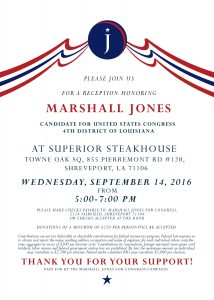Marshall Jones Fundraiser Invitation
